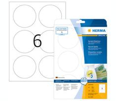 Herma 5068 etikete, odlepljive, okrogle, Ø 85 mm, bele, 150/1