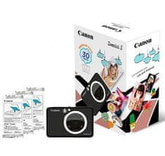 Canon ZOEMINI S fotoaparat z vgrajenim tiskalnikom, mat črn + 20 listov papirja za tiskanje