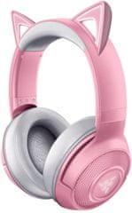 Razer Kraken BT Kitty gaming slušalke, roza