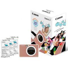 Canon ZOEMINI S fotoaparat z vgrajenim tiskalnikom, roza + 20 listov papirja za tiskanje