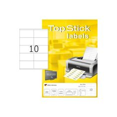 Herma Top Stick 8734 etikete, 105 x 57 mm, bele, 100/1