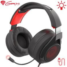 Genesis Radon 610 gaming slušalke, mikrofon, USB, LED