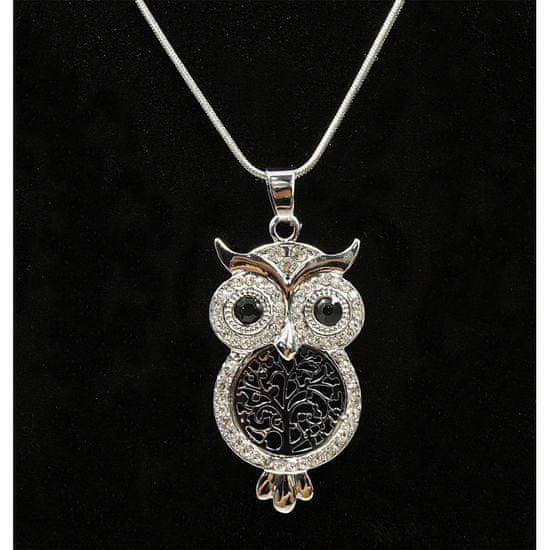 Lorenti Dámský náhrdelník Sova Lorenti, stříbrný