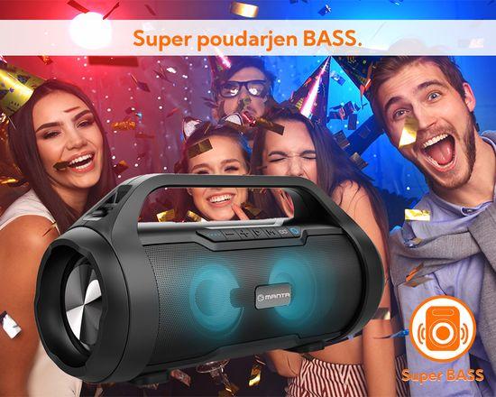 Manta Boombox SPK215 Bluetooth zvočnik, 30 W