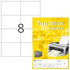 Herma Top Stick 8716 etikete, 105 x 74 mm, bele, 100/1
