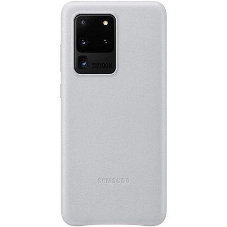 Samsung maska za Galaxy S20 Ultra, koža, srebrna (EF-VG988LSE)