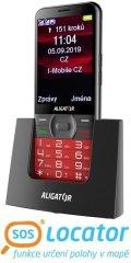 Aligator ALIGATOR A900 GPS Senior červený + stolní nabíječka