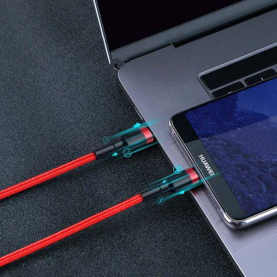 BASEUS Cafule Type C > Type C podatkovni kabel PD 2.0 60W 20V 3A QC 3.0 2M