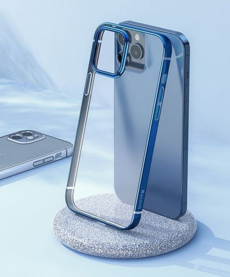 BASEUS Shining ovitek za iPhone 12 Pro / iPhone 12 srebro