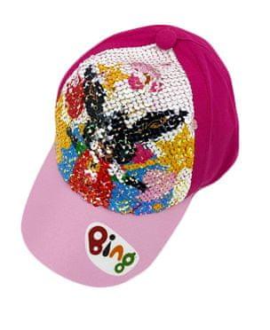 "SETINO Dekliška kapa s šiltom ""Bing"" z bleščicami - temno roza"
