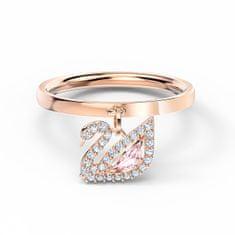 Swarovski Bronzový prsten pro ženy s krystaly Dazzling Swan 5569922 (Obvod 50 mm)