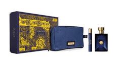 Versace Pour Homme Dylan Blue darilni set - 2x moška toaletna voda, 100 ml in 10 ml + kozmetična torbica