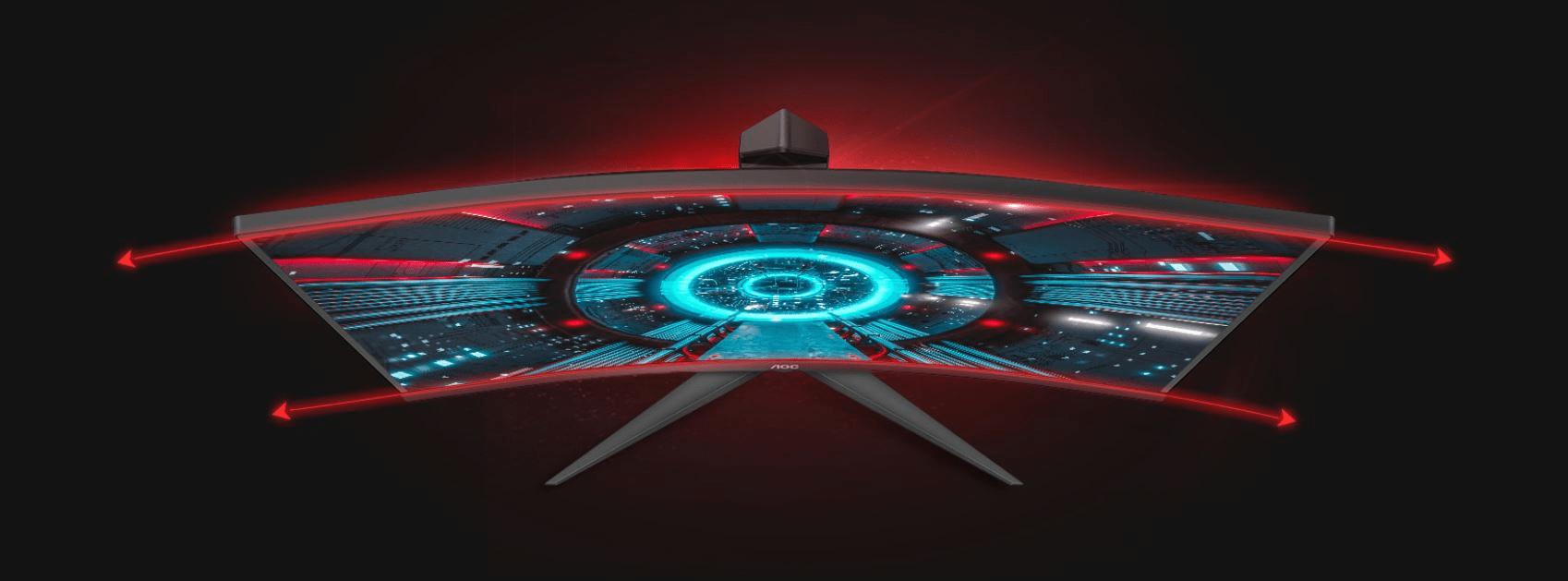AOC C24G2AE gaming monitor (C24G2AE/BK) 1 ms odziv oblika brez okvirja