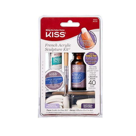 KISS Akrylová sada francouzské manikúry (French Sculpture Acrylic Kit)