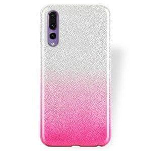 Bling futrola za iPhone 12 Mini, silikonska, 2 u 1, srebrno-ružičasta, sa svjetlucavima