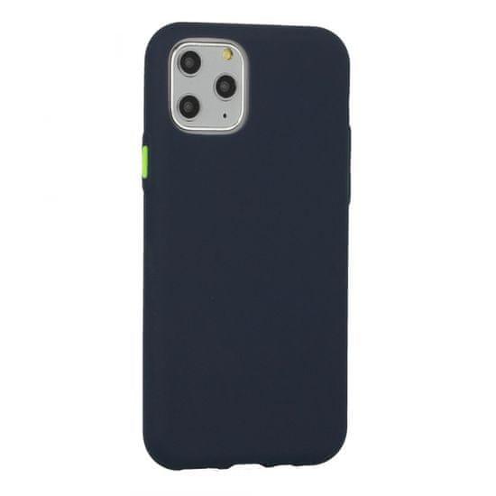 Neon ovitek za iPhone 12 Pro Max, silikonski, temno moder