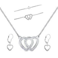 Praqia Piękny komplet biżuteriiLove la N6061_KA6063_NA6064_RH (naszyjnik,bransoletka,Kolczyki )