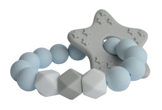 My Teddy Silikónové hryzátko diamant - modrá