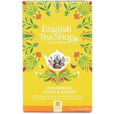 English Tea Shop Citrónová tráva, zázvor & citrusy BIO 20 vrecúšok