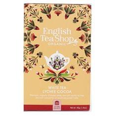 English Tea Shop Bílý čaj s liči a kakaem BIO 20 sáčků