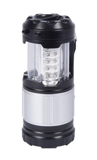 Grundig svetilka za kampiranje, 30 LED, 3 W, 14 x 9 x 9 cm