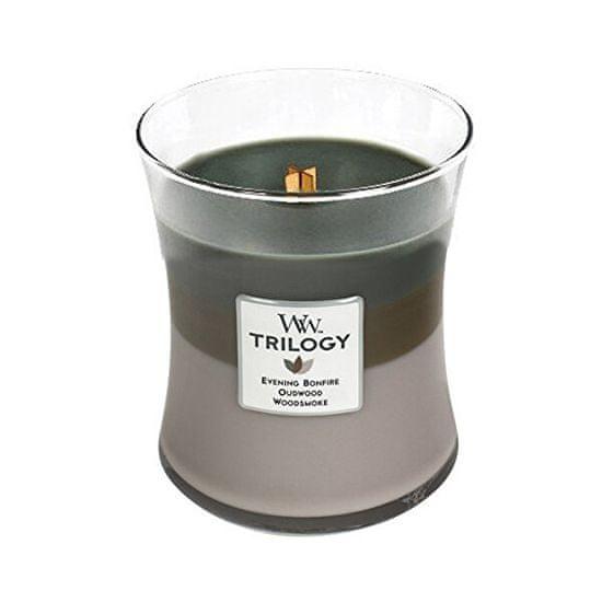 Woodwick Illatgyertya váza Trilogy Cozy Cabin 275 g - közepes