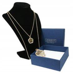 Dámsky náhrdelník s príveskom Flower Tree of life, zlatý