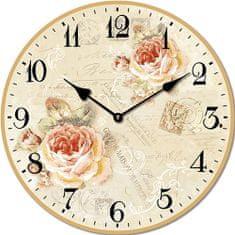 Isabelle Rose Nástěnné hodiny Spring Roses 15 cm