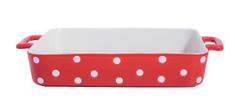 Isabelle Rose Zapékací mísa velká červená s puntíky 38 cm