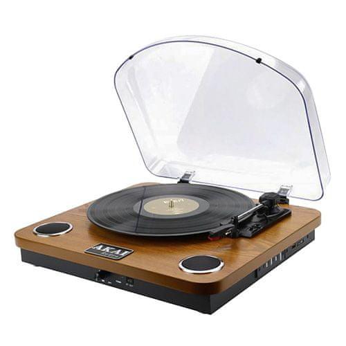 Akai Gramofon , ATT-11BT, stereo, BT, USB, SD, 2x 0,8 W, 2x repro