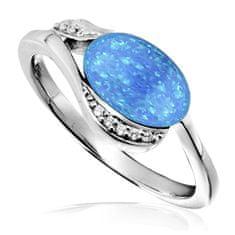 JVD Stříbrný prsten se syntetickým opálem SVLR0041SH8O2 (Obvod 53 mm) stříbro 925/1000