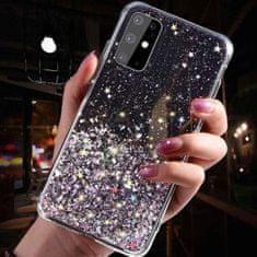 Sparkle ovitek za iPhone 12/12 Pro, silikonski, črn, z bleščicami