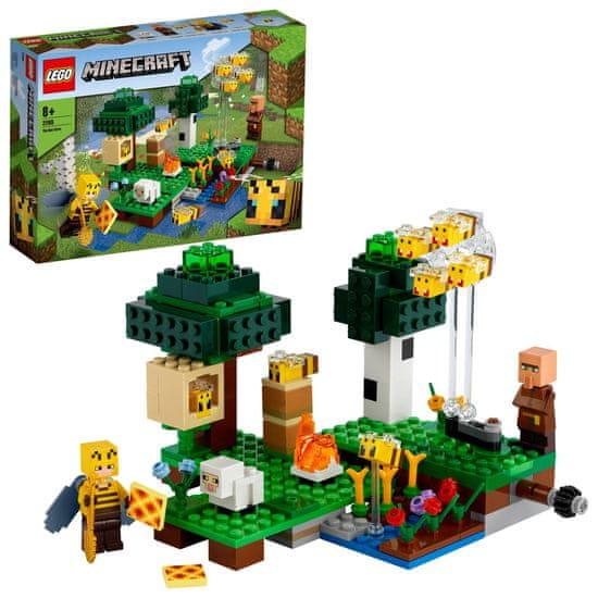 LEGO zestaw Minecraft 21165 farma pszczół