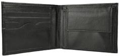 VegaLM Elegantná kožená peňaženka z pravej kože v čiernej farbe