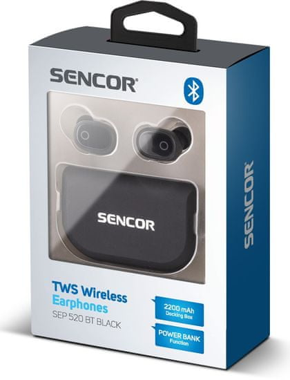 SENCOR SEP 520BT TWS, čierna - zánovné
