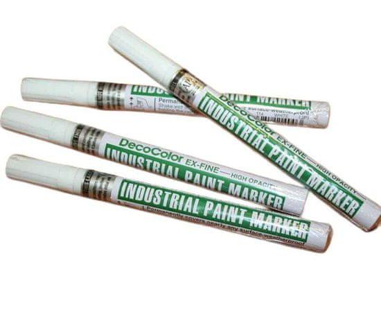 Marvy Lakový popisovač decocolor bílý hrot 1mm, marvy, lakové