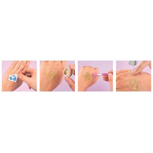 Miss Melody Set za tatoo Glitter, 3 barve + čopič + predloge