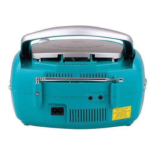Trevi Rádio , CD 512, rádio, CD přehrávač, LED displej, na baterky, tyrkysový