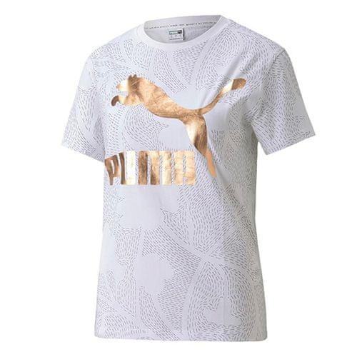 Puma Klasična majica z logotipom AOP, 597724   02   Moški   bela   M