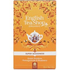 English Tea Shop Zelený Rooibos, granátové jablko a čučoriedka BIO 20 vrecúšok