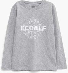 Ecoalf Koszulka dziecięca Avery Symbols 122 - 128 szara