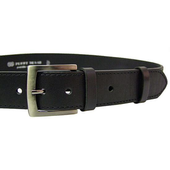 Penny Belts Pánsky kožený opasok 25-1-60 Čierny