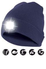 Velamp čepice CAP04 s LED světlem modrá