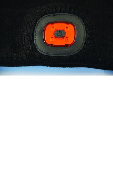Velamp čepice ORTHUS s předním i zadním světlem černá