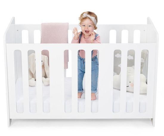 KinderKraft Stello White otroška postelja, bela