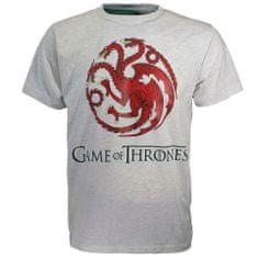 "SETINO Moška majica s kratkimi rokavi ""Game of Thrones"" - svetlosiva - XL"