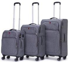 Swiss Sada kufrů Alpine Soft Grey 3-set