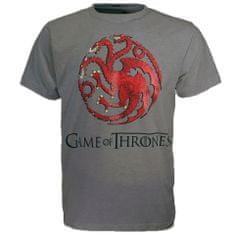 "SETINO Moška majica s kratkimi rokavi ""Game of Thrones"" - temno siva - XL"