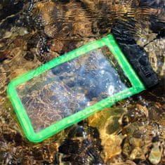 Vrečka za telefon, 16,51 cm, XXL, vodotesna, zelena