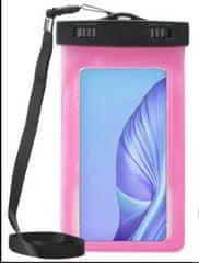 Vrečka za telefon, vodotesna, XXL, 16,51 cm (6,5''), roza